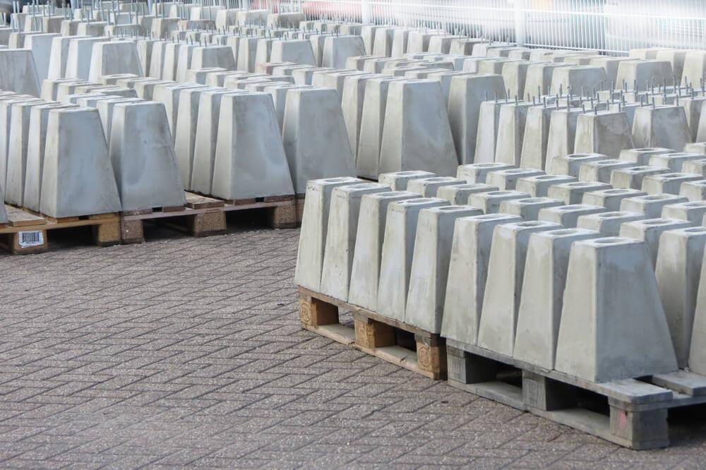 voorraad betonpoeren