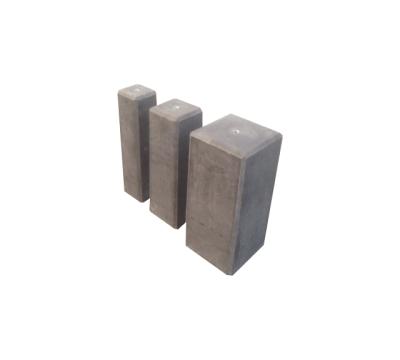 Betonpoer 18 x 18 cm antraciet - 50 cm hoog