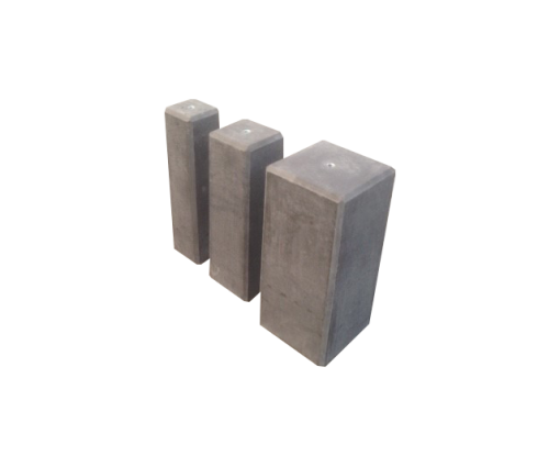 Betonpoer 12x12 cm antraciet - 50 cm hoog
