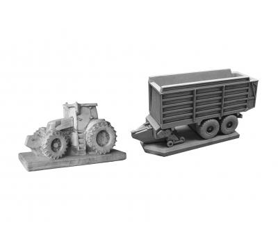 Tractor New Holland + opraapwagen