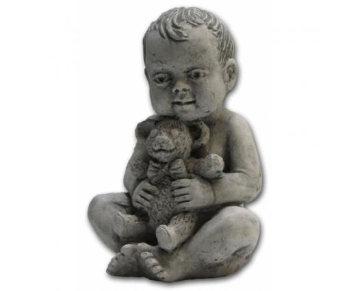 Baby zittend met beertje