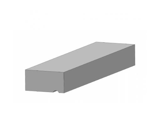 Betonlatei grijs 1000x120x60 mm