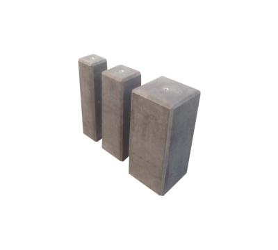 Betonpoer 15 x 15 cm antraciet - 50 cm hoog