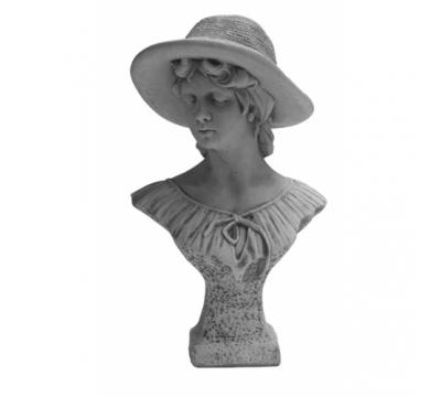 Borstbeeld vrouw met hoed
