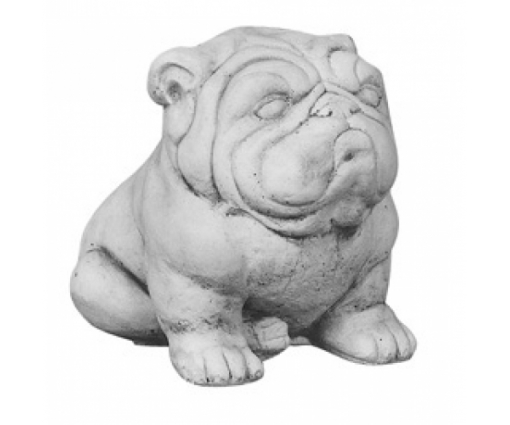 Hond Bulldog zittend