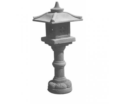 Japanse lamp op hoge voet