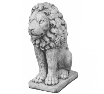 Leeuw zittend zonder schild