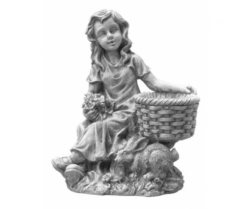 Meisje zittend met konijntje