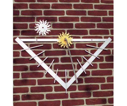 Muurzonnewijzer driehoek metaal