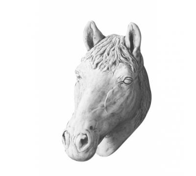 Paardenhoofd groot wandhanger