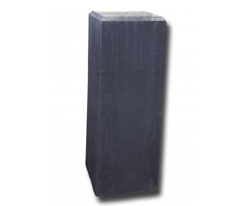 Betonpoer 17x17x50 cm met vellingkant antraciet