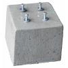 Betonpoer 30x30x25 cm + 4x draadeind M12