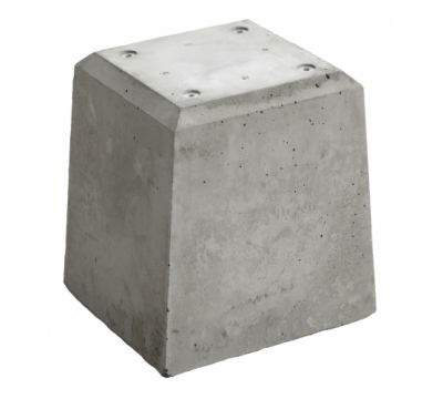 Betonpoer 21x21x28 cm + 4 schroefhulzen M8