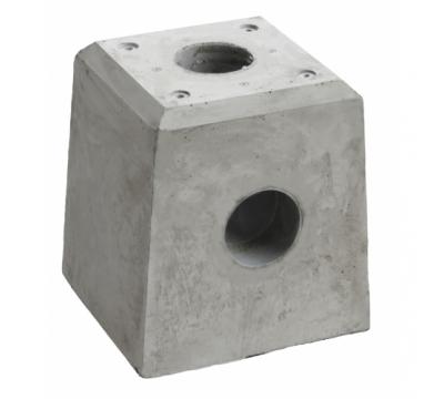 Betonpoer 21x21x28 cm met HWA 80 mm