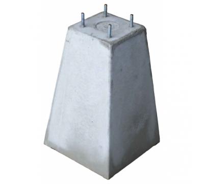 Poer 45 cm hoog + 4x draadeind M10