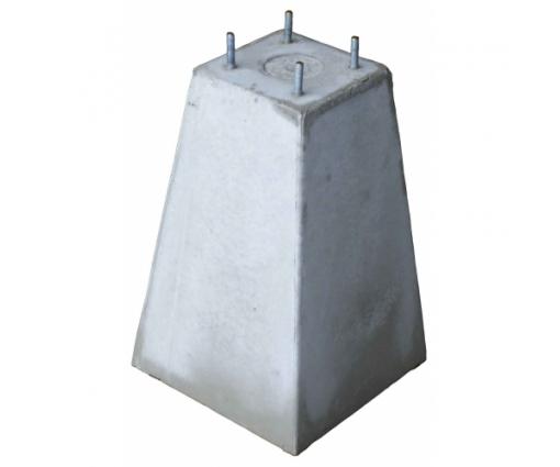 Betonpoer 18x18x45 cm + 4x draadeind M10