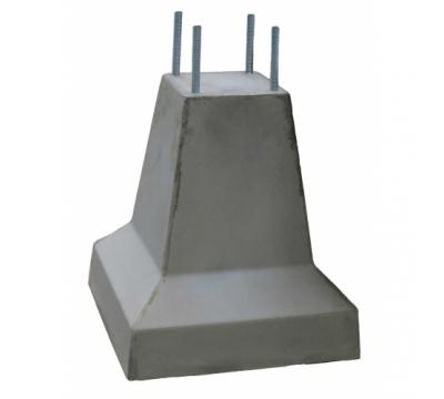 Poer 50 cm hoog + 4x draadeind M16