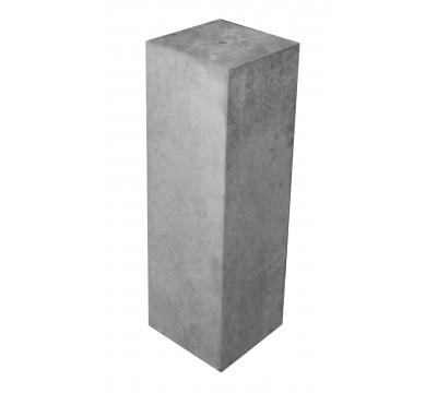 Betonpoer 15x15x50 cm met strakke rand antraciet