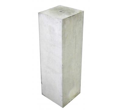 Betonpoer 15 x 15 cm - 50 cm hoog strakke rand