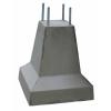 Betonpoer 20x20x50 cm + 4x draadeind M16