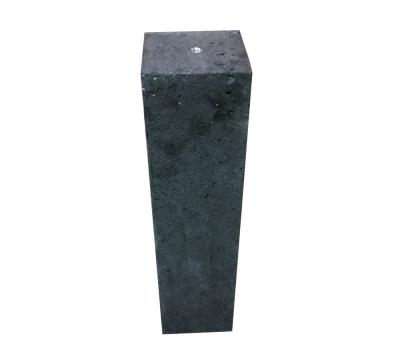 Betonpoer 15x15x60 cm antraciet oud hollands