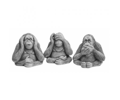 Set apen horen, zien en zwijgen