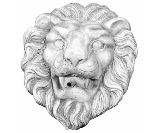 Spuitfiguur leeuwenkop muurhanger