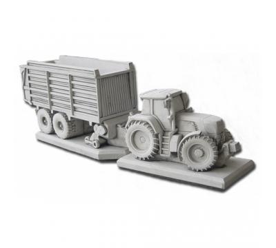 Tractor Fendt + Opraapwagen