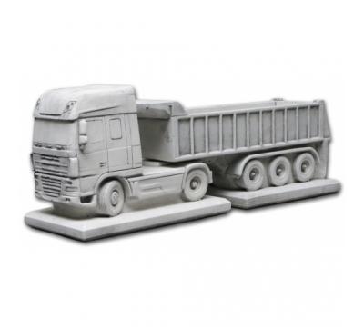 Vrachtwagen Daf + oplegger