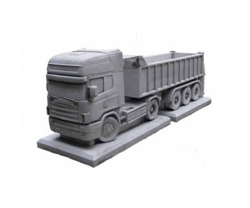 Vrachtwagen Scania + oplegger