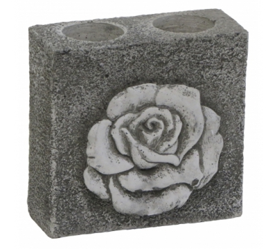 Waxinelichthouder roos