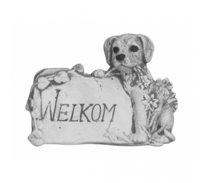 Welkomstbord hondje