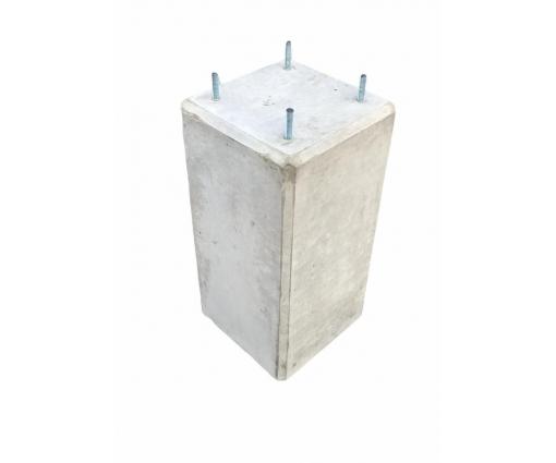 Betonpoer 23x23x45 cm met 4x draadeind m10