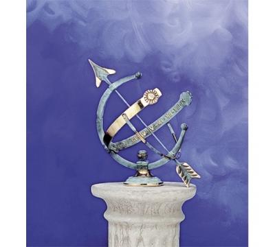 Zonnewijzer Apollo messing blauw ø 27 cm